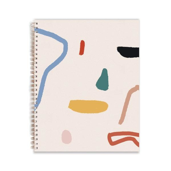 Moglea Painted Ray Abstract Cloth Cover Ring-bound Workbook
