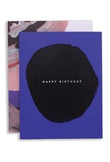 Moglea Abstract Birthday Blue Greeting Card