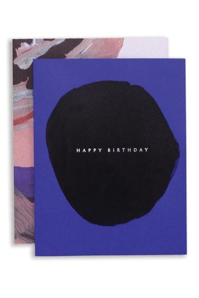 Moglea Abstract Birthday Blue Greeting Card