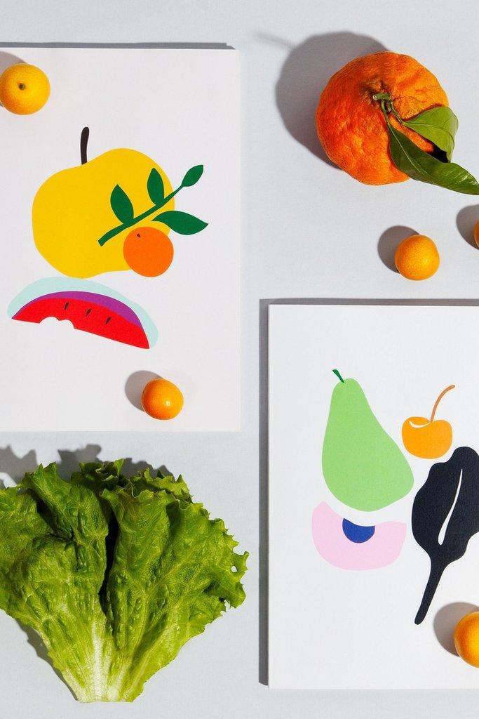 Poketo Simple Fruit Notebooks - Multiple Patterns