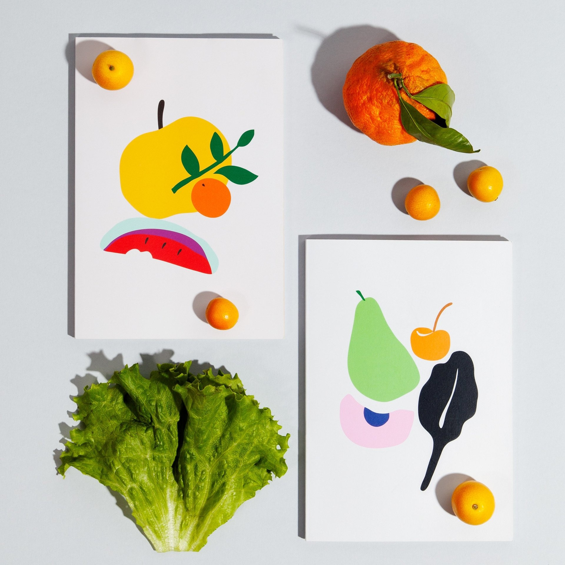 Poketo Simple Fruit Notebooks - Multiple Patterns