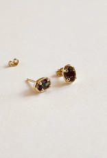 Dream Collective Elipse Tourmaline Gold Studs