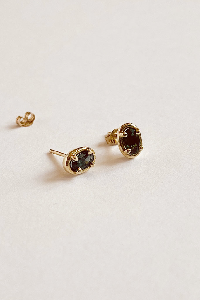 Dream Collective Dream Collective Elipse Tourmaline Gold Studs