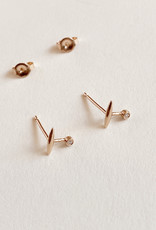 Galaxy Rose Gold Diamond Studs