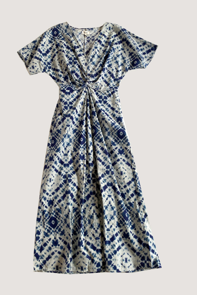 Diega Diega Rosata Blue Cotton Dress