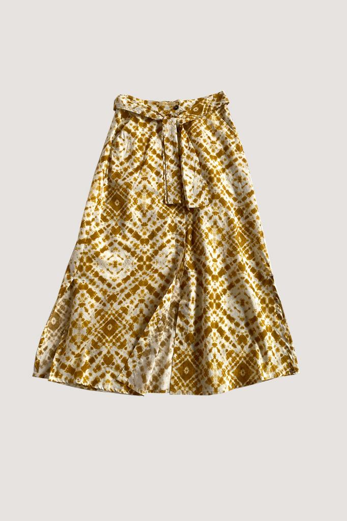 Diega Diega Jaketo Belted Cotton Skirt