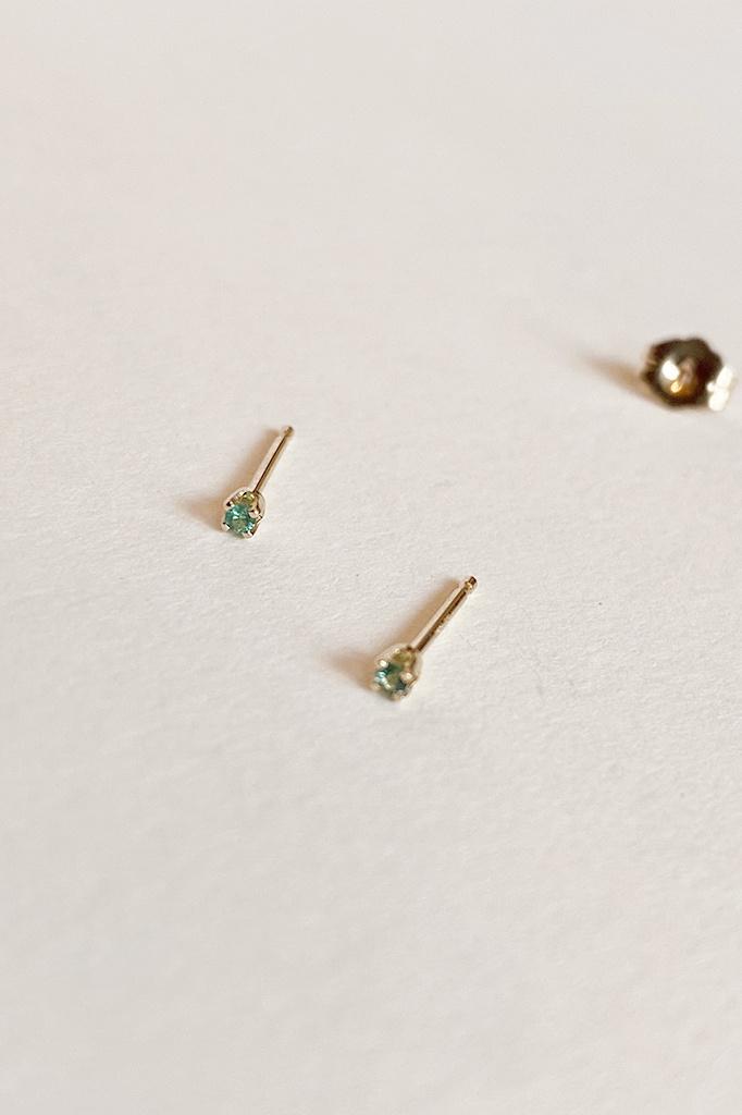 Gjenmi Gjenmi Baby Emerald Studs