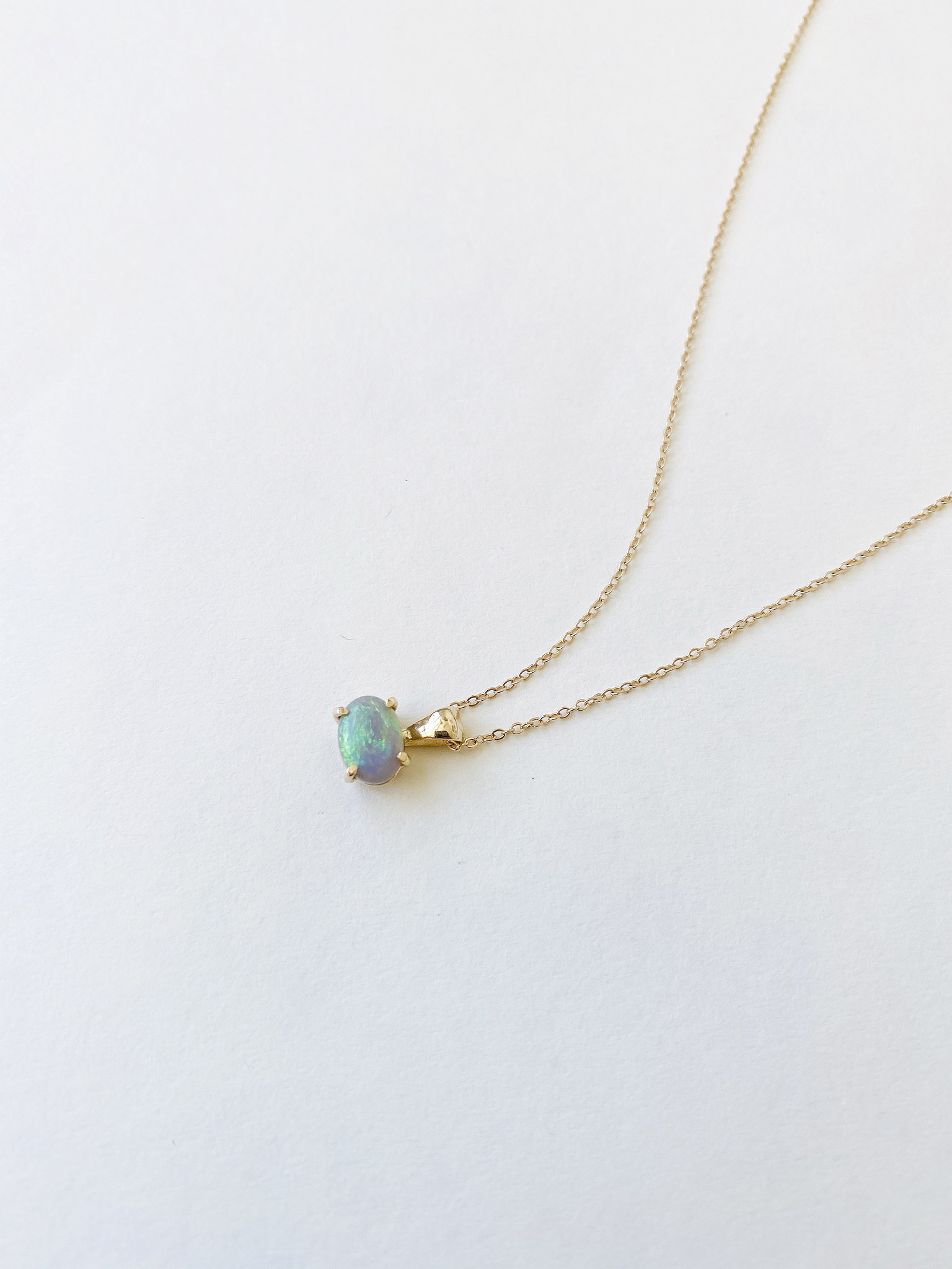 Kindred Row Kindred Row Australian Opal Necklace 14Kt