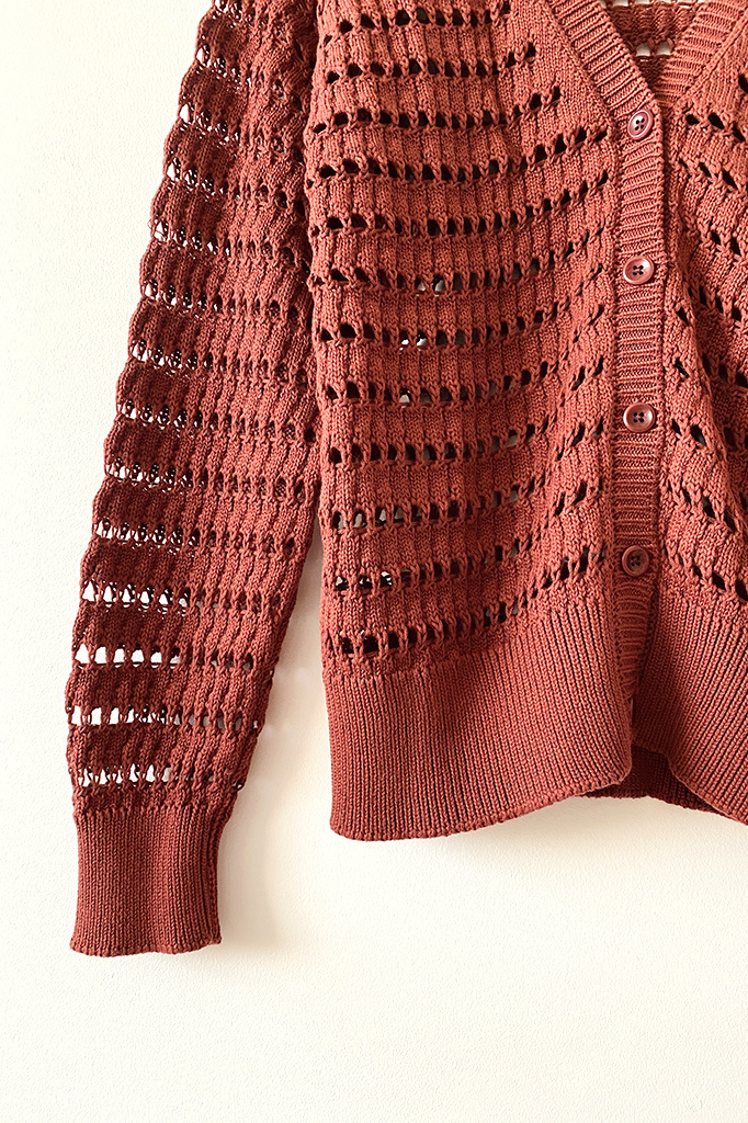 Aymara Aymara Aki  Open Knit Cardigan