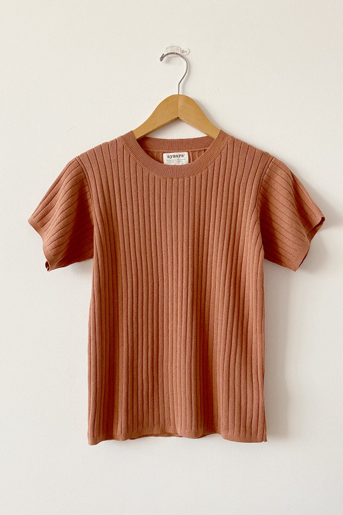 Aymara Nola Ribbed Top Copper Size L
