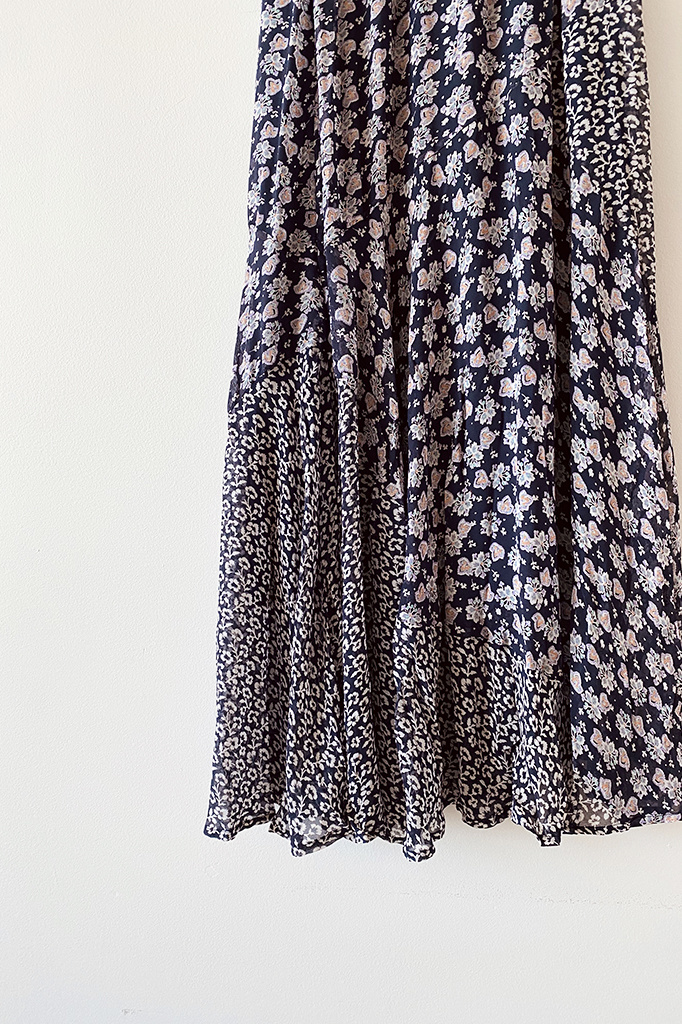 Ne Quittez Pas Rayon Mixed Floral Skirt