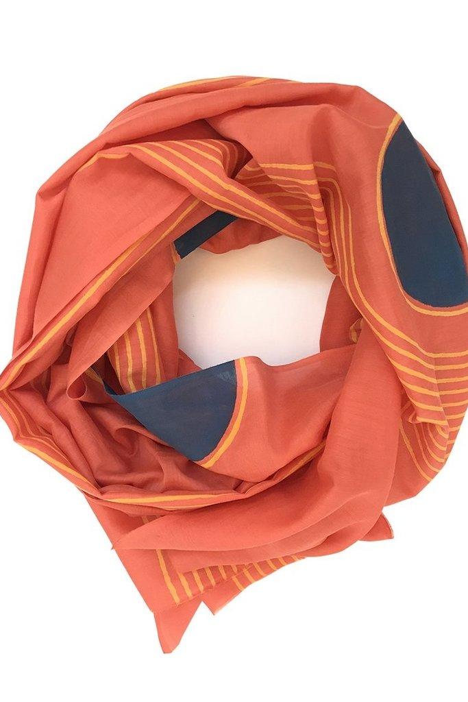 Block Shop Block Shop Silk Cotton Block Print Scarf