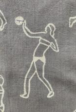PO-EM Nina Boxy Short Sleeve Block Print Top