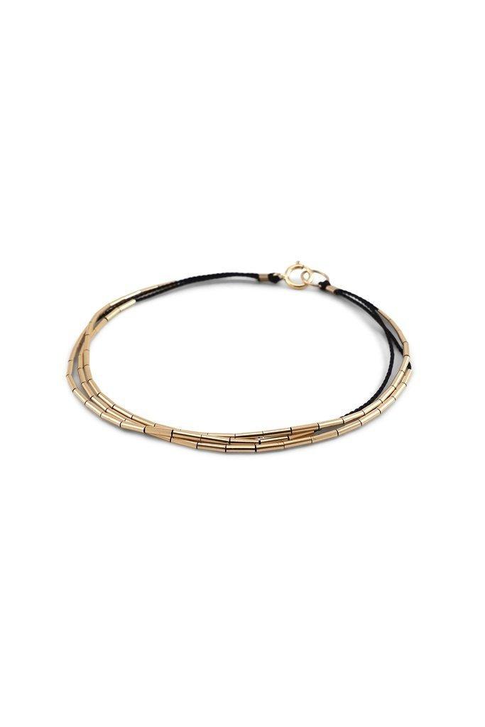 Abacus Row Orion Beaded Bracelet Black
