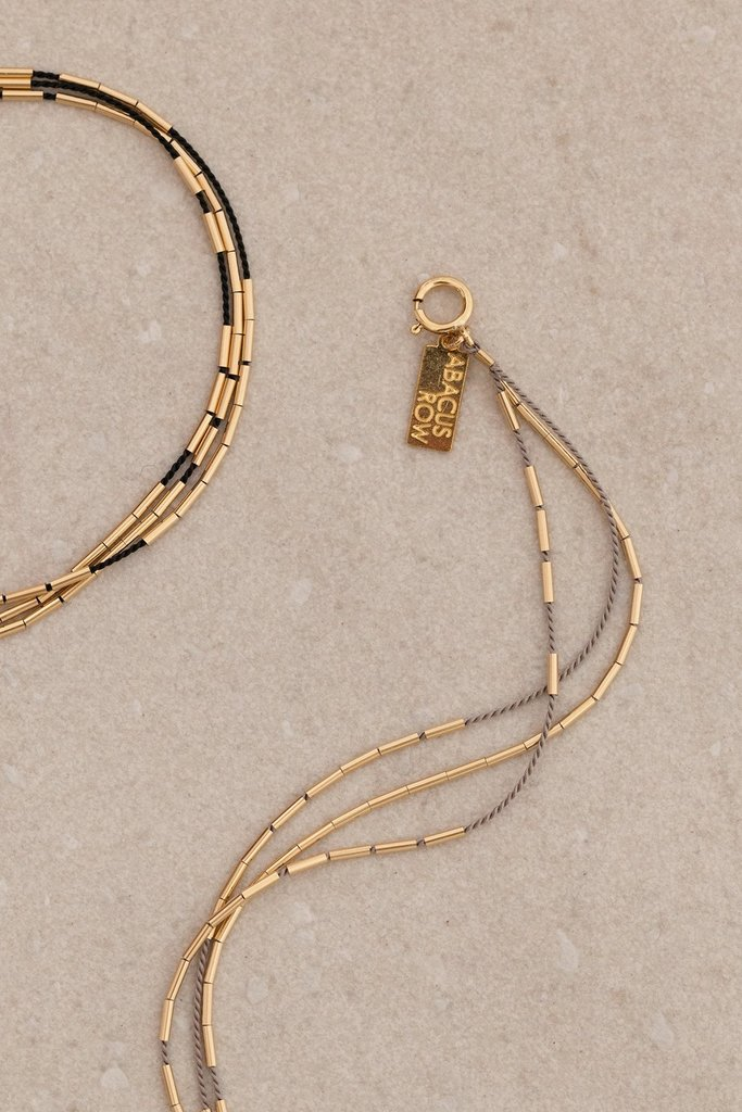 Abacus Row Orion Beaded Bracelet Fawn