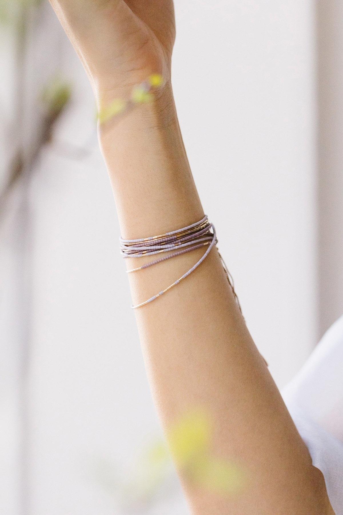 Abacus Row Neso Wrap Necklace Wisteria