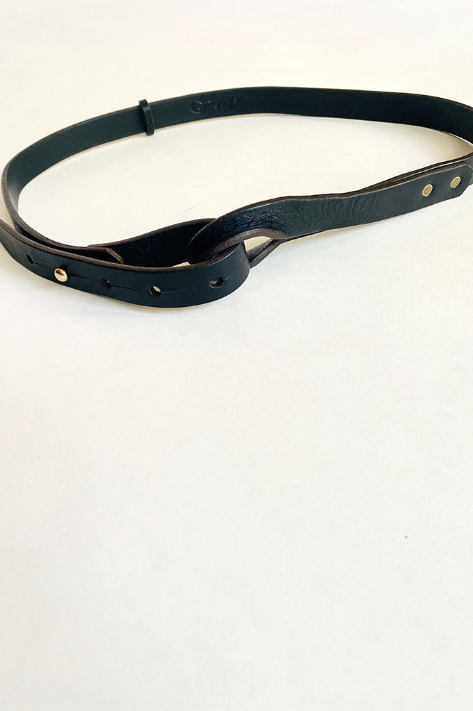 dePalma dePalma Nuova Black Leather Belt
