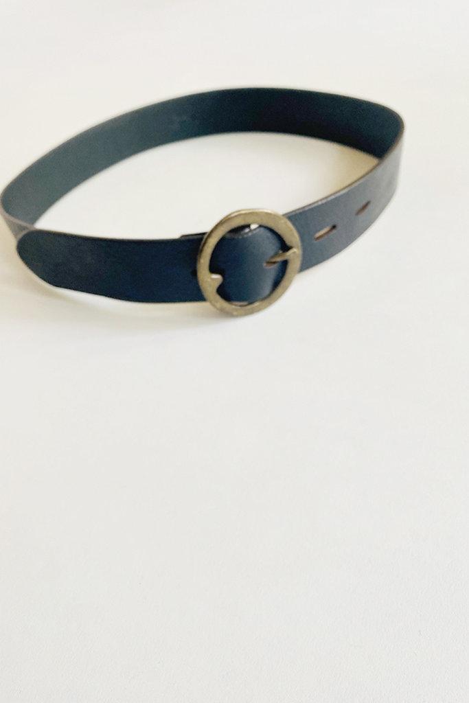 dePalma dePalma Semplice Black Leather Belt