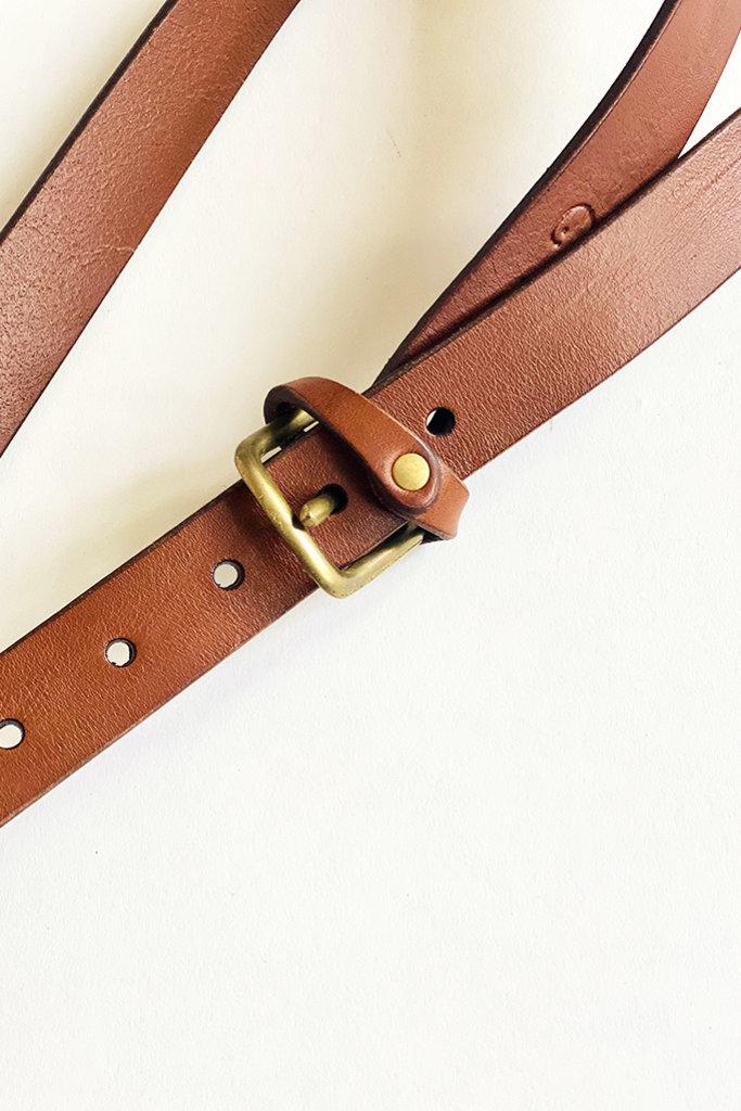 dePalma dePalma Mon Senor Brown Leather Belt