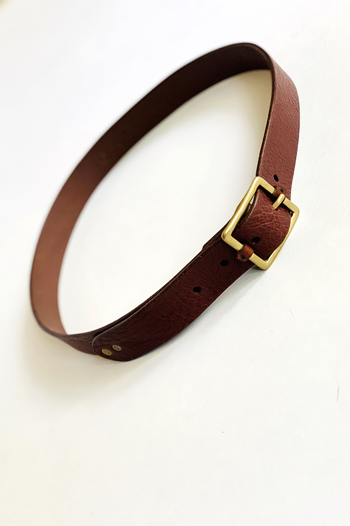 dePalma dePalma Mona Dark Brown Leather Belt