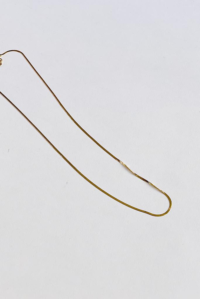 "Amanda Hunt Amanda Hunt Liquid Chain 14k Gold 18"""