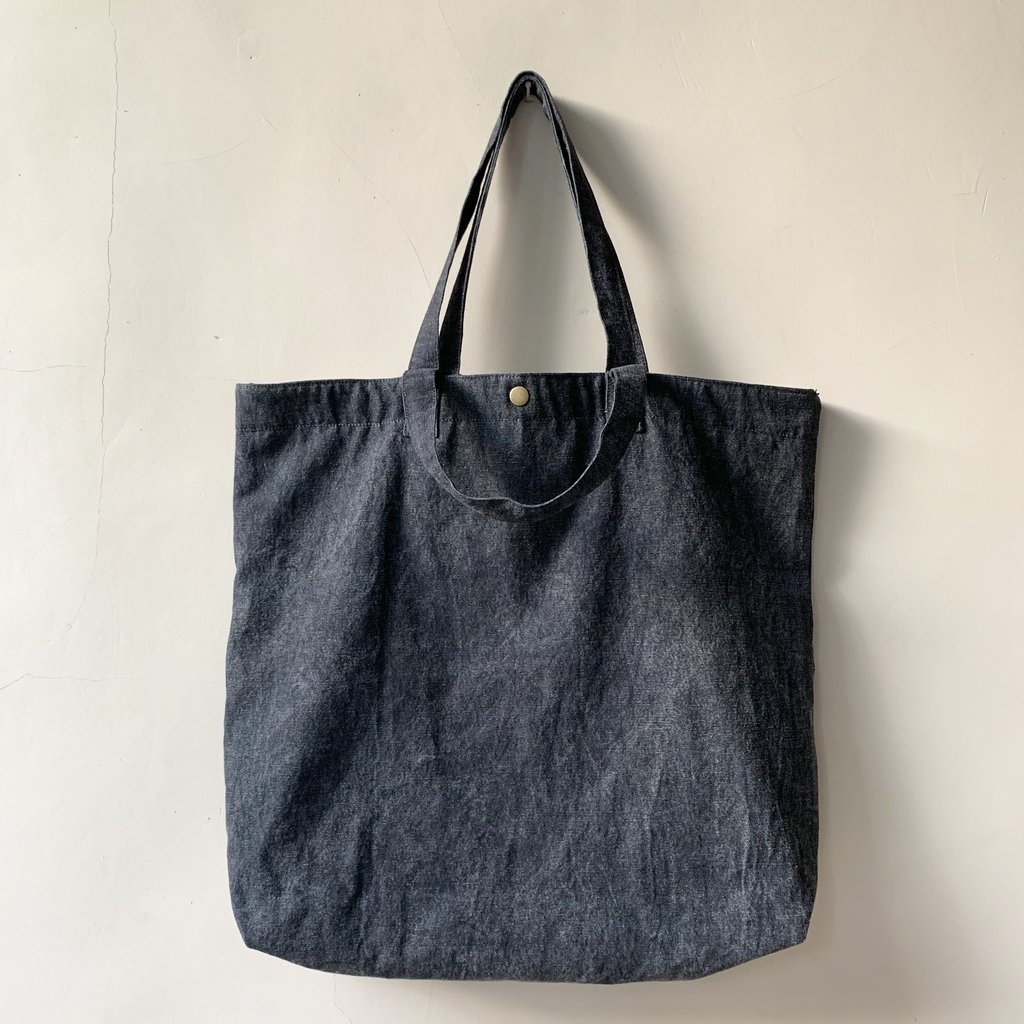 Mysayang Mysayang Pantai Dark Stonewash Canvas Beach Bag