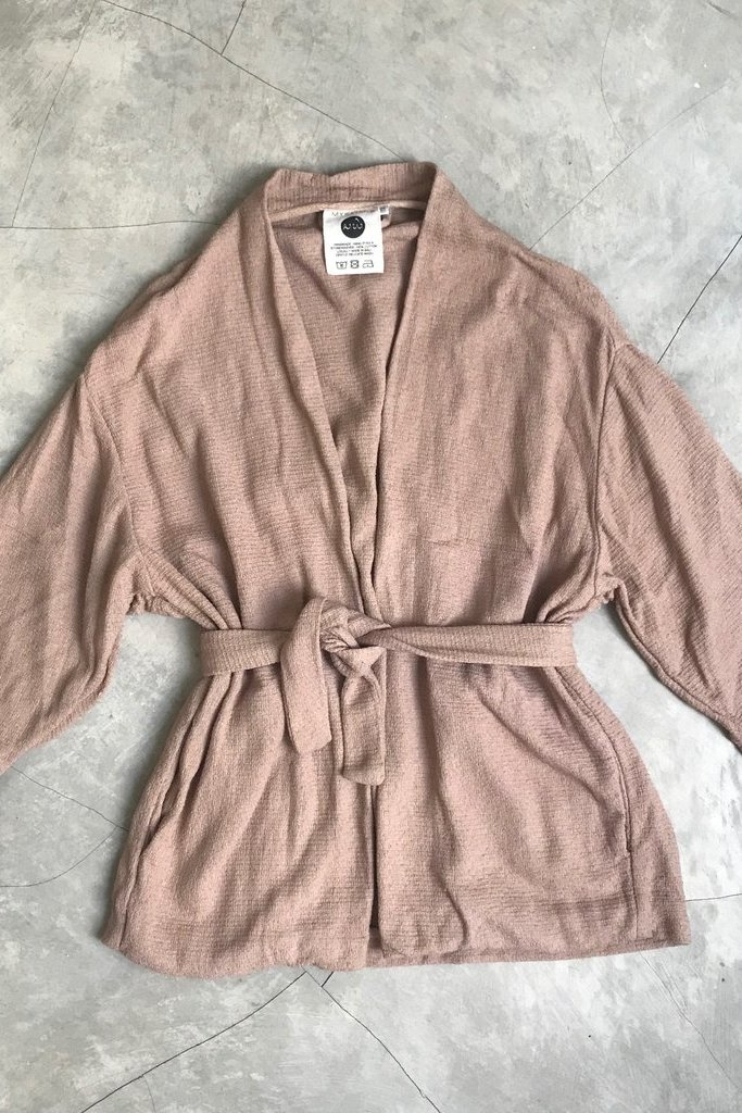 Mysayang Mysayang Peach Cotton Kimono Jacket