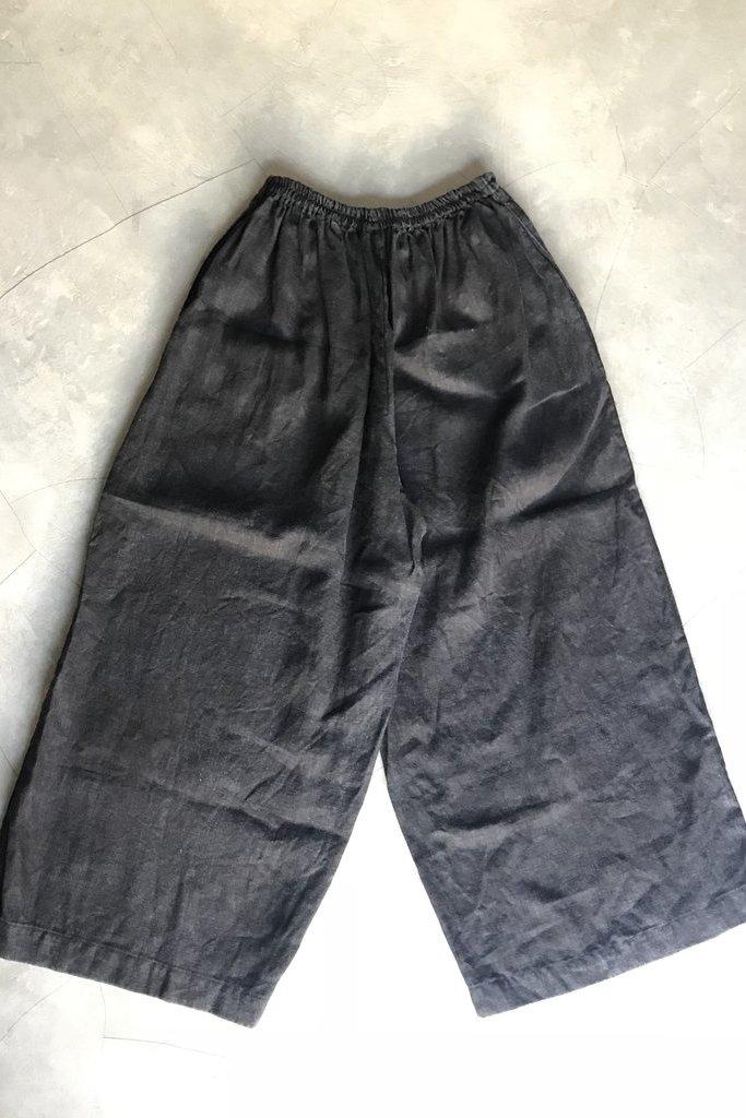 Mysayang Mysayang Mudah Wide Linen Culottes O/S in Faded Black