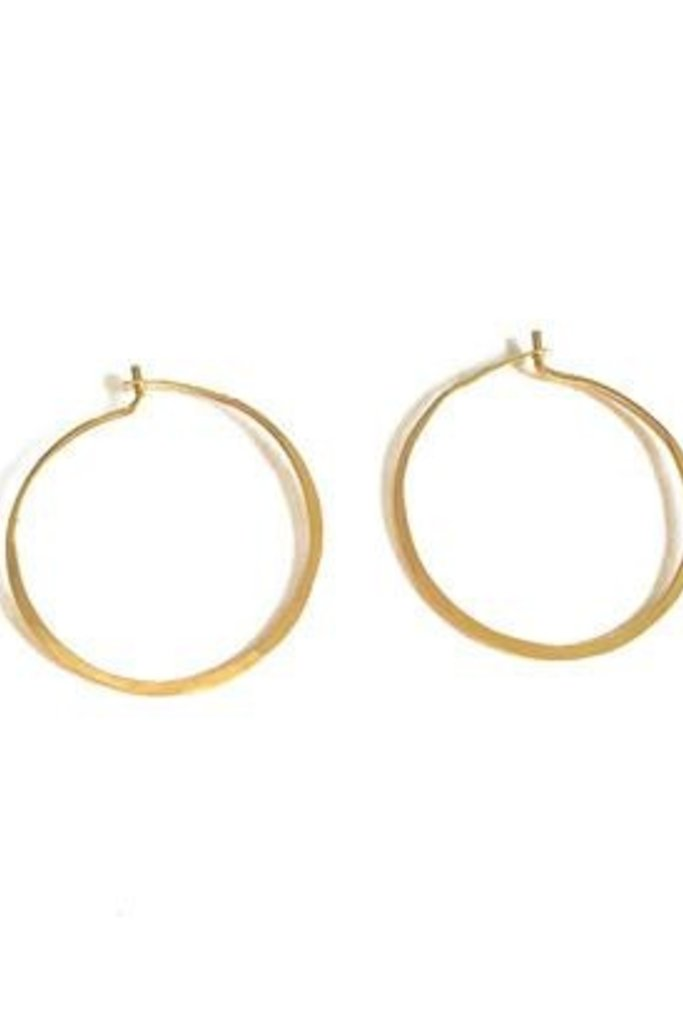 Satomi Studio 14kt Gold Fill Hammered Hoop SMALL  Earrings