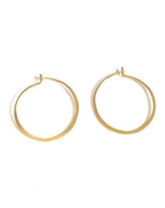 Satomi Studio 14kt Gold Fill Hammered Hoop  Earrings