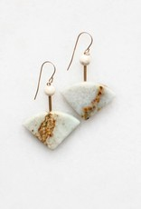 Marble & Riverstone Earrings with Gold Fill Ear Wires