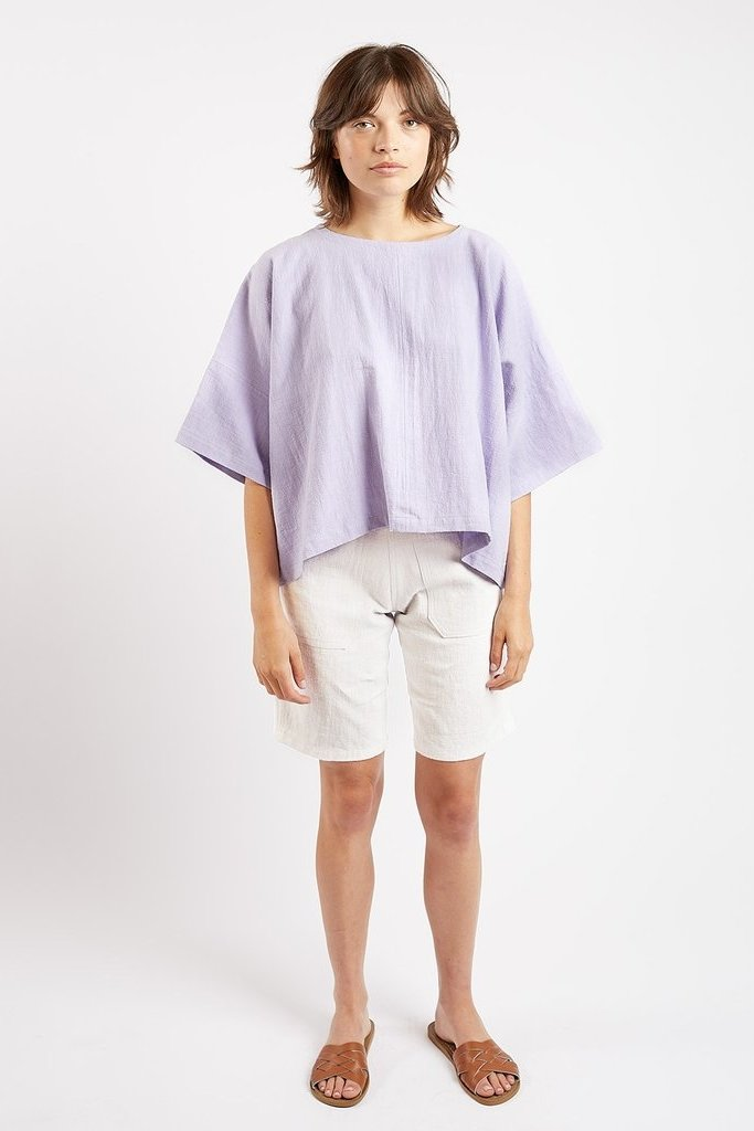 Kate Sheridan Ltd Kate Sheridan Edie Boxy Top in Lilac Linen