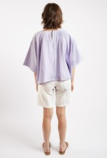 Kate Sheridan Edie Boxy Summer Top in Lilac Linen