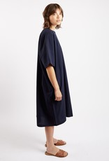 Kate Sheridan Edie Oversized Dress in Navy Seersucker