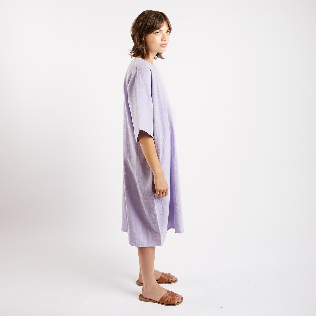 Kate Sheridan Edie Oversized Dress in Lilac Linen