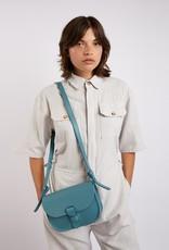 Kate Sheridan Celeste Loop Leather Shoulder Bag in Sky Blue