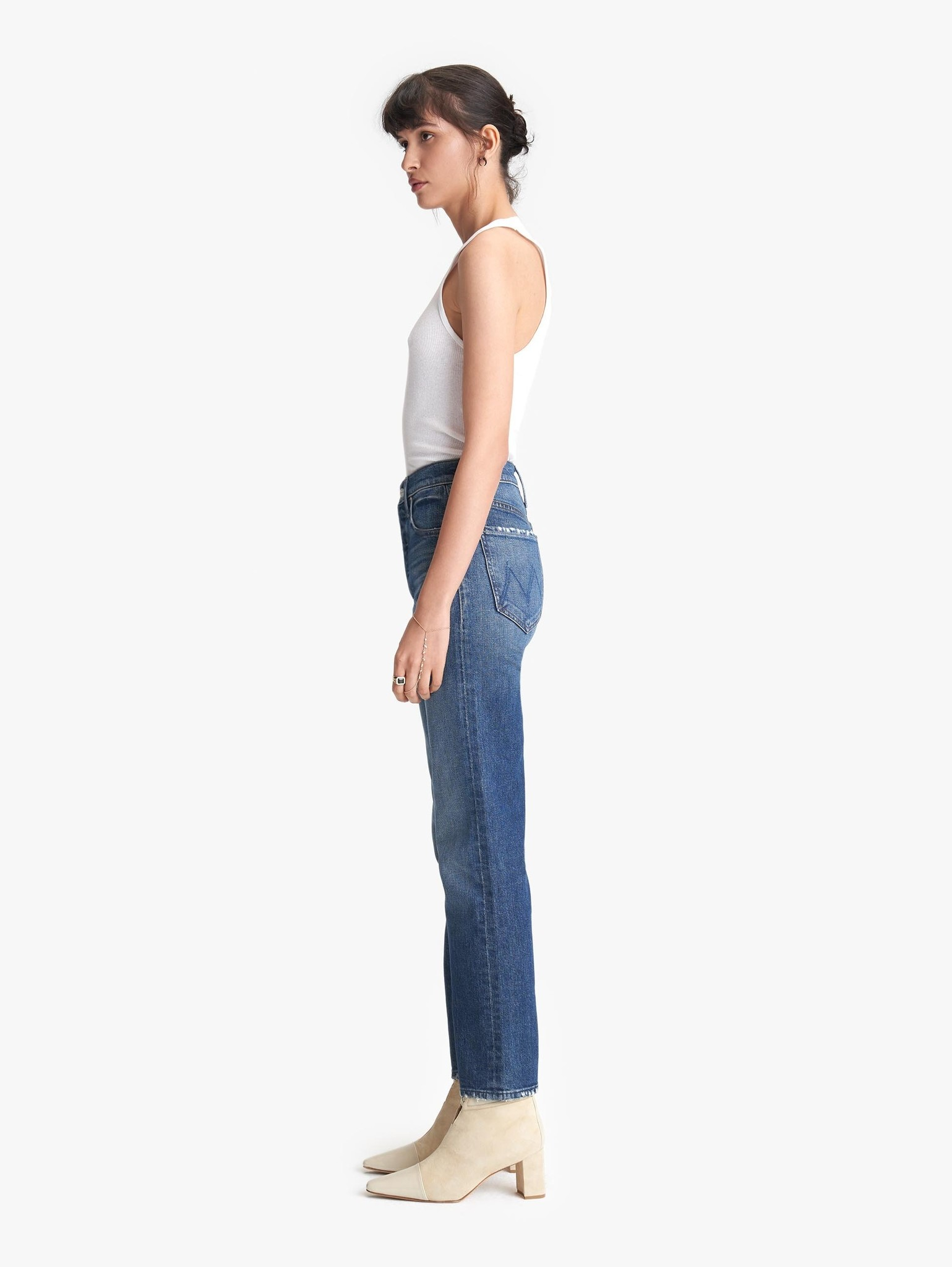 Mother Mother Tomcat Ankle Straight Leg Jeans - size 28