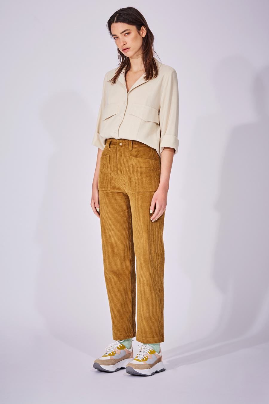 Eve Gravel Eve Gravel Fortune Teller High-Waisted Cotton Corduroy Pants