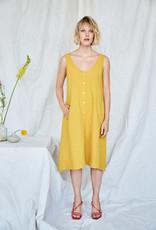 Eve Gravel Eve Gravel Nymphea Yellow Linen Blend Dress