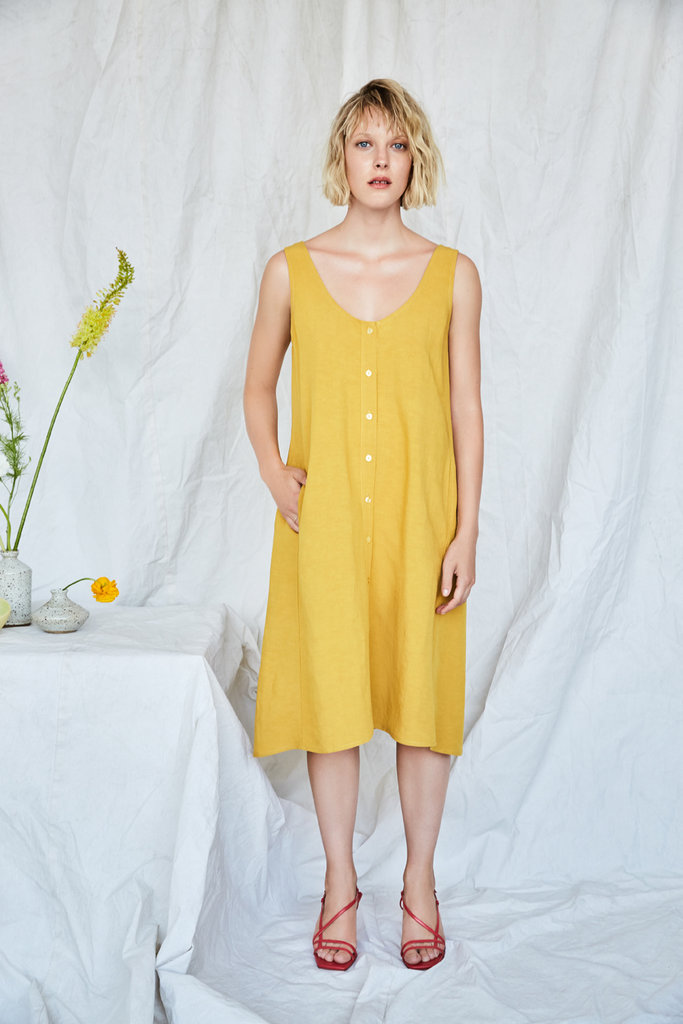 Eve Gravel Eve Gravel Nymphea Yellow Linen Blend Dress