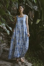 Natalie Martin Natalie Martin Virginia Sleeveless Maxi Dress in Corfu Blue