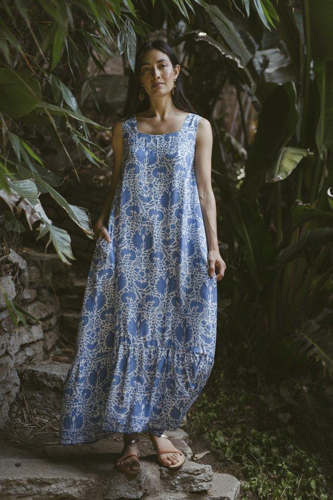 Natalie Martin Natalie Martin Virginia Sleeveless Maxi Dress in Corfu Blue