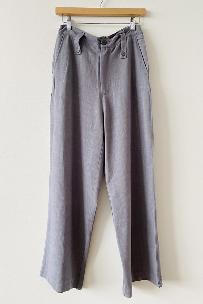 Rita Row Rita Row Milan Grey High-Waisted Tailored Pants
