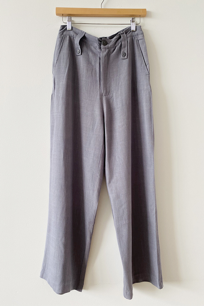 Rita Row Rita Row Milan Grey High-Waisted Tailored Pants