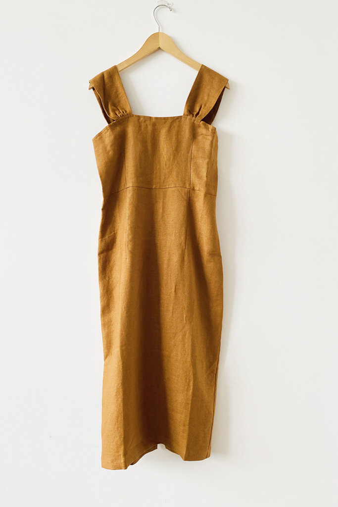 Rita Row Rita Row Otavia Linen Camel Dress
