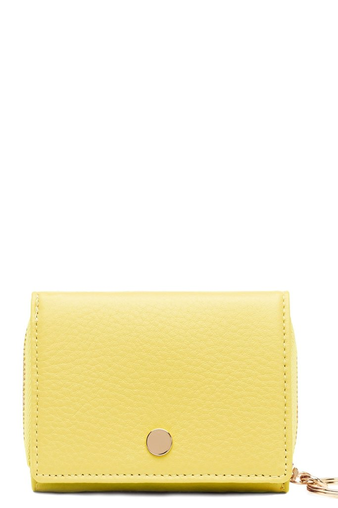 OAD OAD Mini Zip Around Wallet in Lime