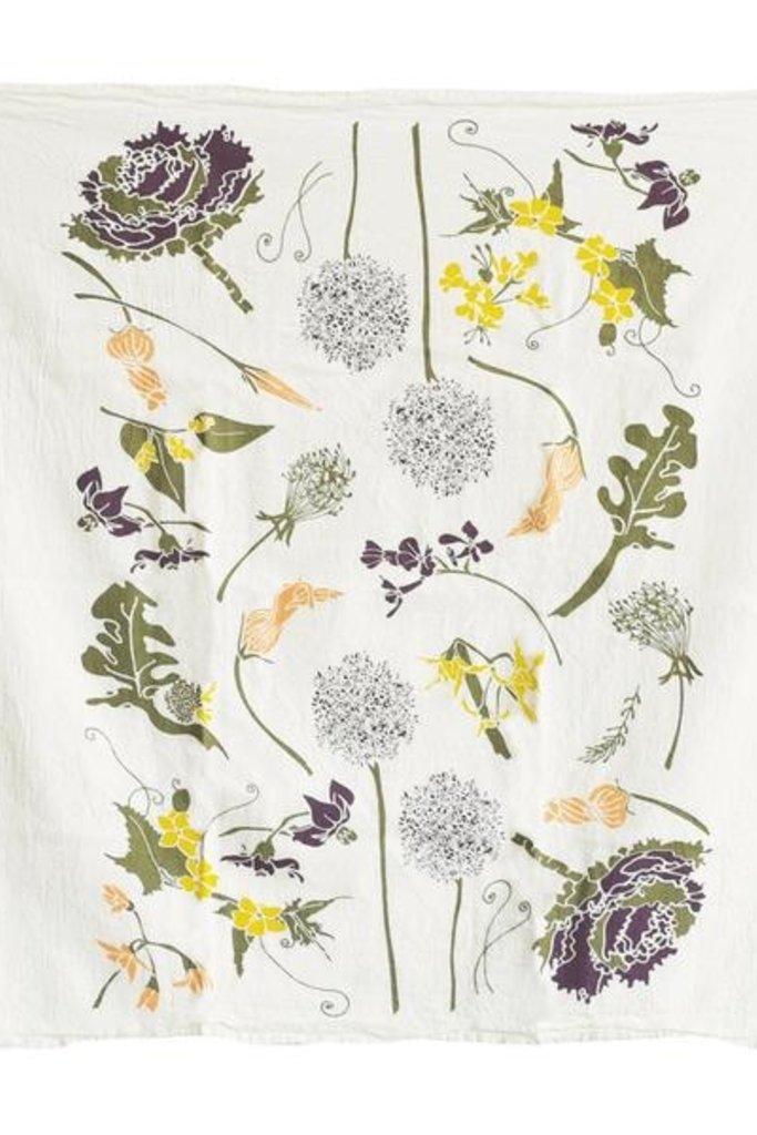 June & December Flowering Veggies Towel