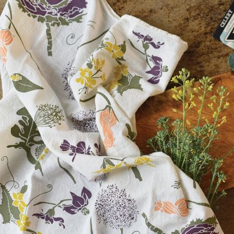 June & December Flowering Veggies Towel