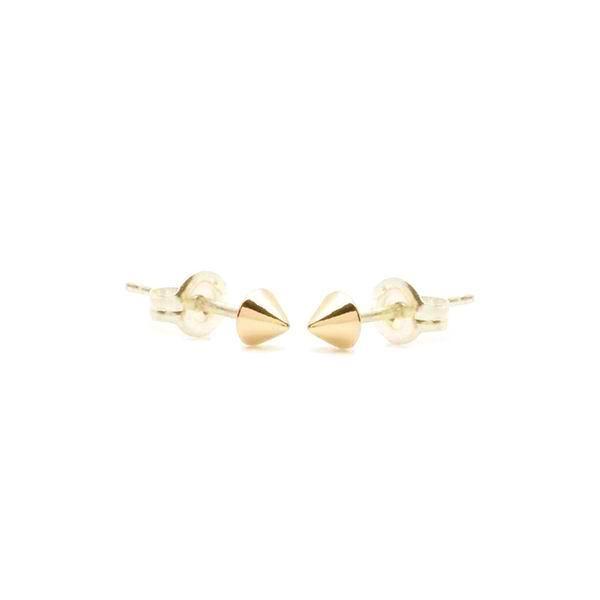 Tiny Viv Spike Studs Yellow Gold Vermeil
