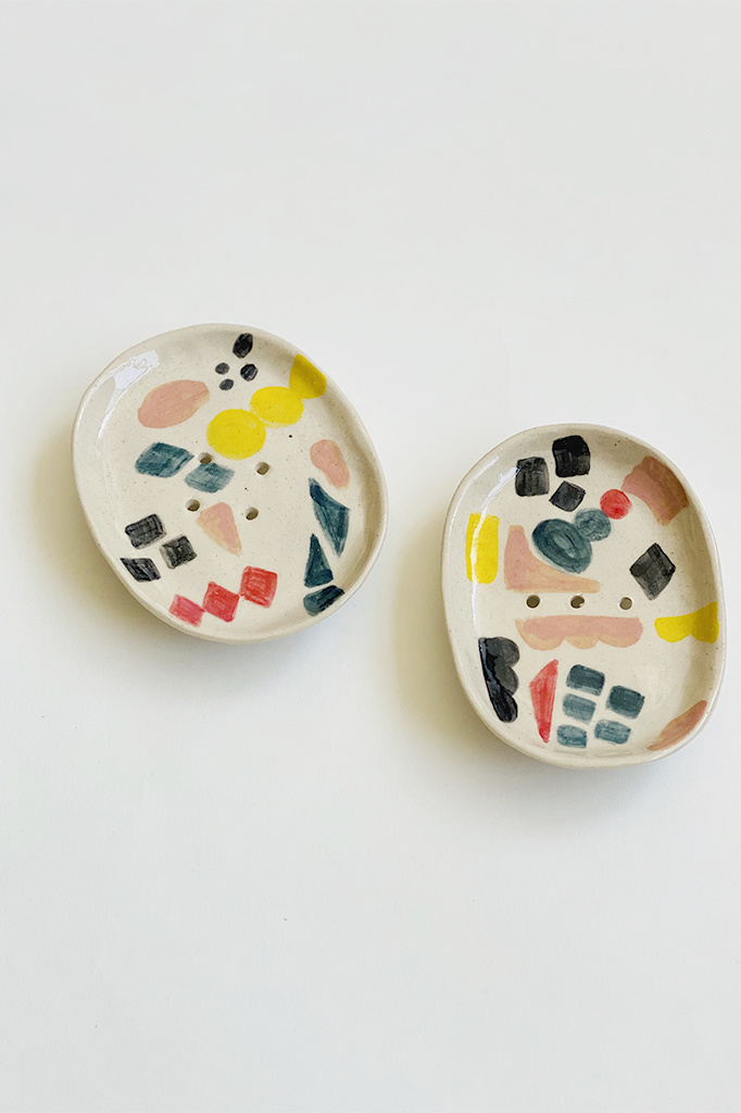 Alice Cheng Studio Hand Painted Soap Dish Shapes